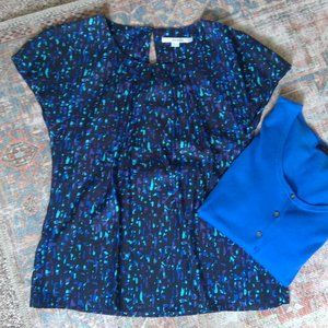 Boden - Blue Speckled Ravello Top - 8